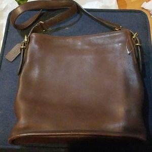 Coach brown legacy patricia saddle purse
